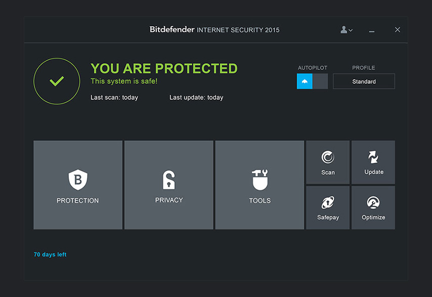 Bitdefender Internet Security 2015 - OneClick Optimizer 1