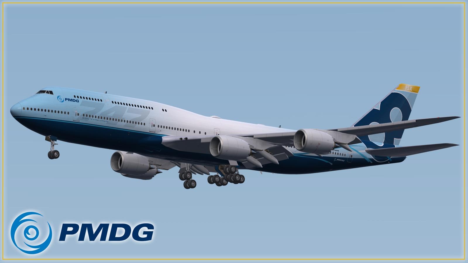 Ótima notícia, 747 PMDG PMDG_748_approach