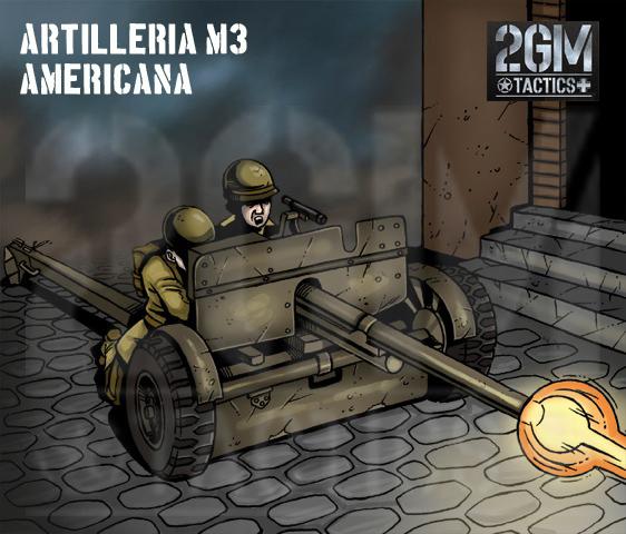 Nuevo juego de mesa 2GM Tactics - ÉXITO en Verkami M3-artilleria