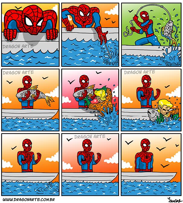 Siguen las imágenes bizarras y raras - edicion New 52- - Página 3 Post_homem_aranha_pesca_post