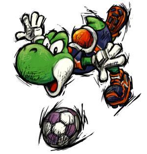¿Por qué te gusta mucho Yoshi? - Página 2 Mario_smash_football_yoshi_artwork