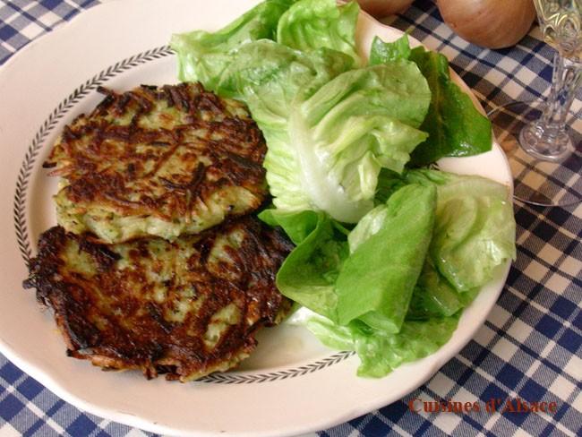 La recette des galettes de pomme de terre à l'alsacienne Galettespommesdeterre.fr
