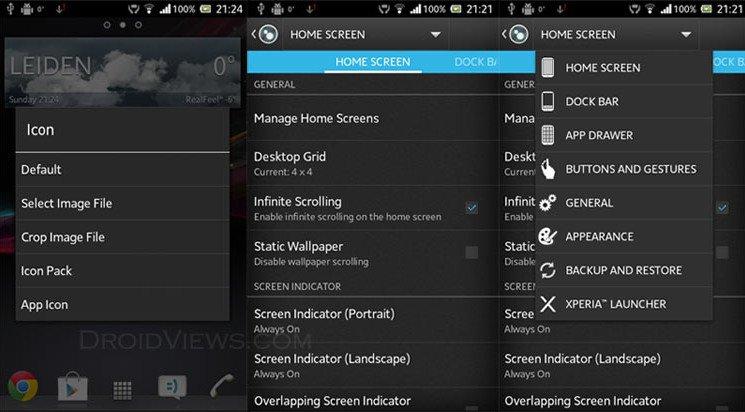 [SOFT][4.0.3+]Launcher Xperia Z et Widgets pour tous[Nouvelles fonctionnalités][Gratuit][29.10.2013] Xperia-Z-Launcher-options