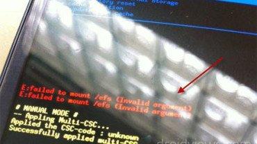 [TUTO] Comment sauvegarder et restaurer le dossier EFS dont son IMEI sur un appareil Samsung Galaxy [15.01.2014] Failed-to-mount-efs