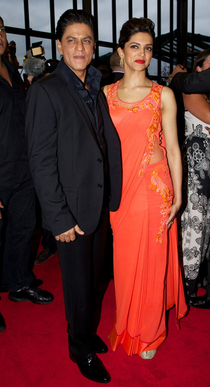 SRK and Deepika promote their Chennai Express in London London2