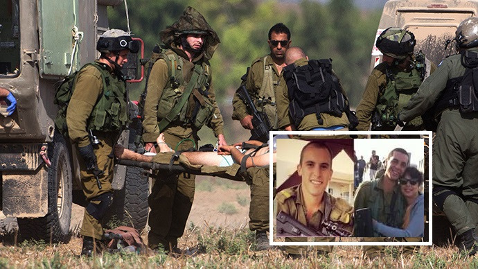 لواء غولاني الاسرائيلي ........חֲטִיבַת גּוֹלָנִי Wounded-IDF-soldiers-evaciated-from-Gaza-Strip-July-21-2014-Source-AFP-Menahem-Kahana2