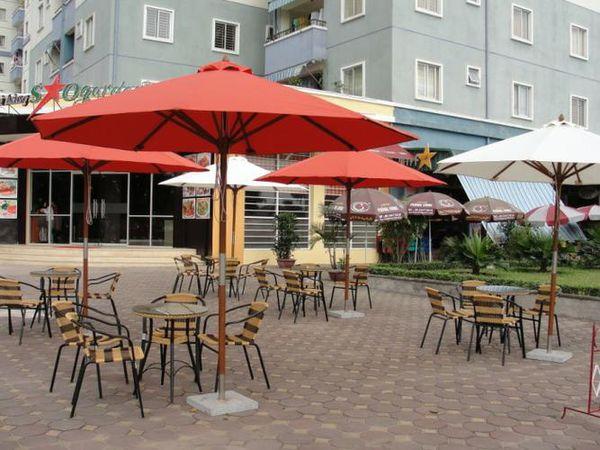 Sản phẩm cần bán: Những loại dù che quán cafe thường được sử dụng Du-quan-cafe