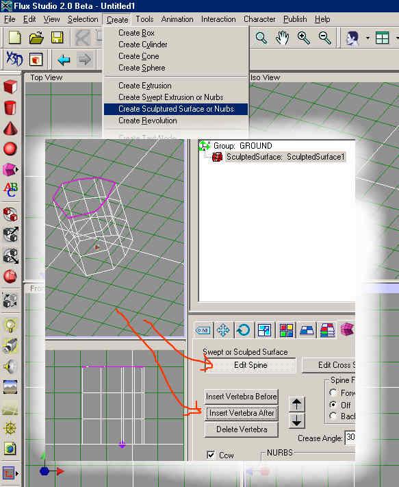 FluxStudio Help Fluxspine1