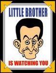Les frères Sarkozy : la collusion Patronat, Politique, Pharmacie Sarko-little-brother-is-watching-you