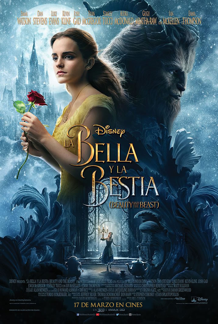 La Bella y La Bestia 2017 Onesheet