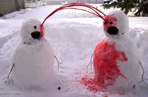 En Komik Kardan Adam resimleri, En Sempatik Kardan Adam Resimleri  Red_snowmen