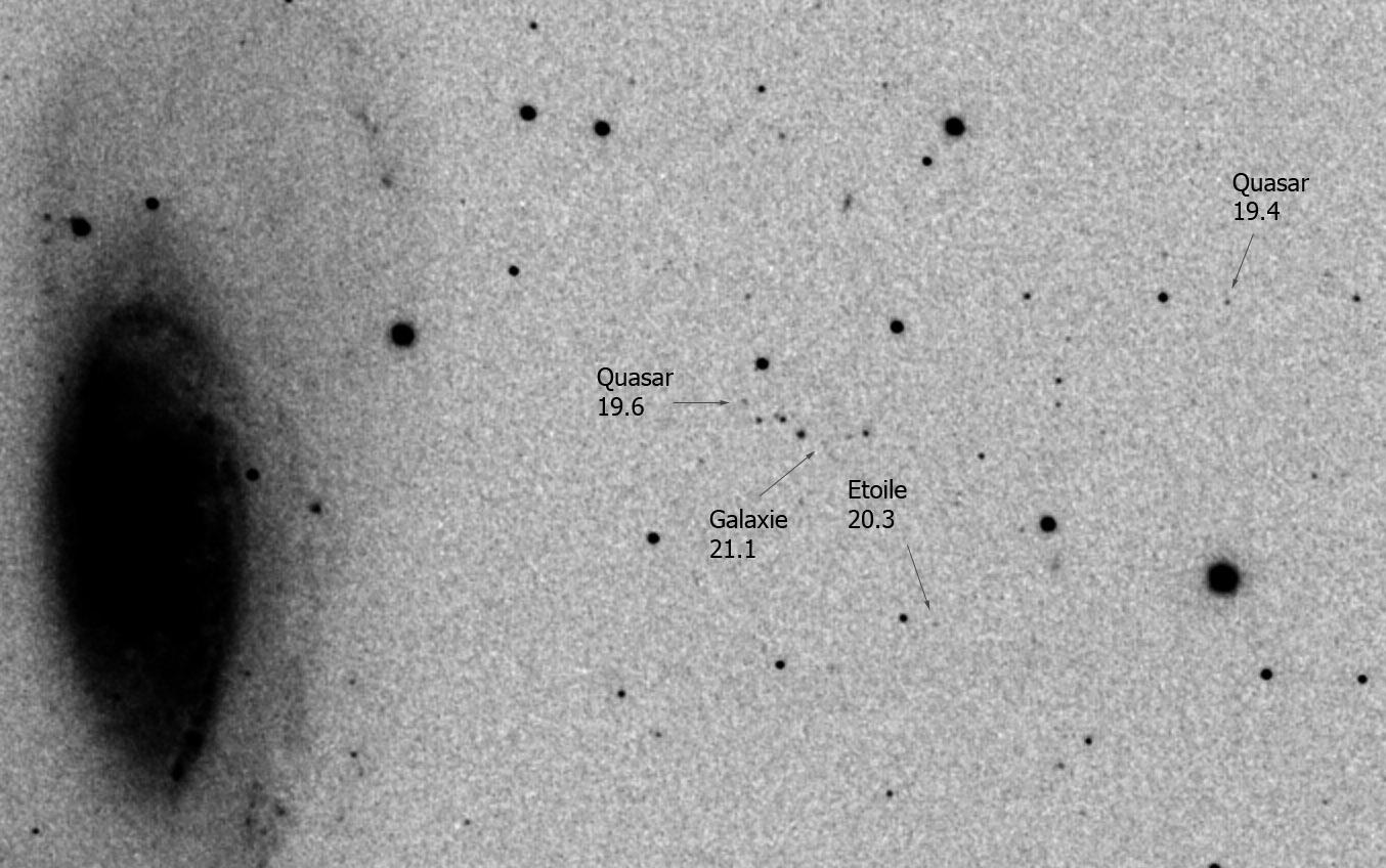 M106 et voisines M106_legende