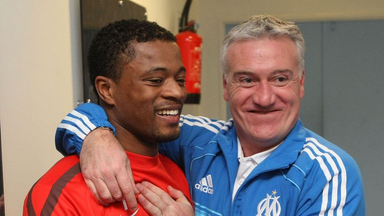Oliver Giroud offers support to Patrice Evra after ban. Skysports-marseille-evra-deschamps-france-ligue-1_4152574