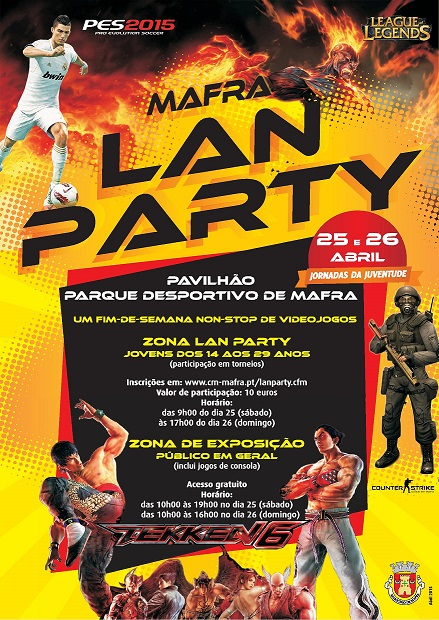 MAFRA LAN PARTY - 25 e 26 de Abril 2015 Cartazmafra2015