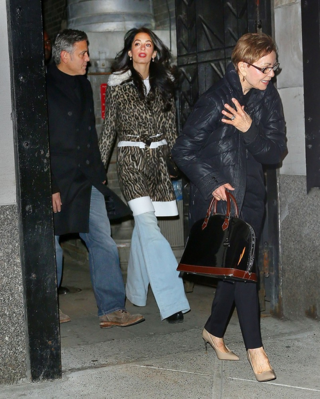 George Clooney, Amal and Nina dine at favourite Patsy's Italian Restaurant in NYC 0e48aae963c2f4660ca9a0382d10ceb8f8f20a23