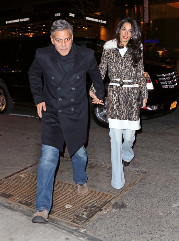 George Clooney, Amal and Nina dine at favourite Patsy's Italian Restaurant in NYC 4968e9addf5abe7c9439d899d1f22b0a5a270571