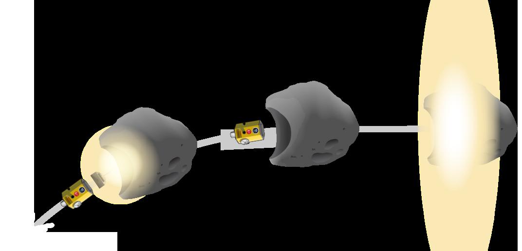 Défense planétaire d'urgence face aux astéroïdes géocroiseurs Flight-end