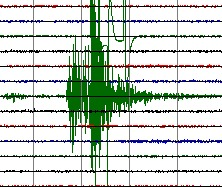 Cutremurele listă ianuarie 7, 2012 Seismograph-recording