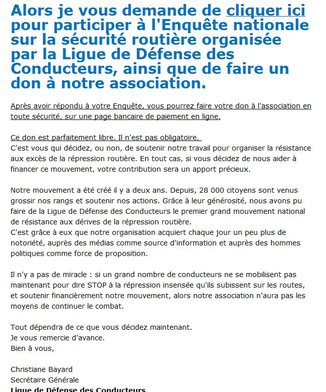 La Ligue de défense des conducteurs BAYARD Christiane 3499362137