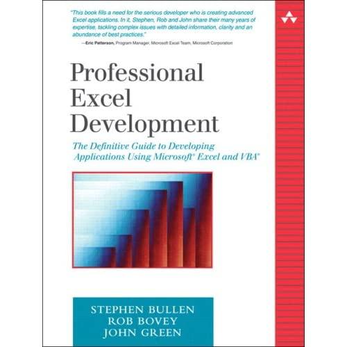 Professional Excel Development: The Definitive Guide to Dev 51X4QPK3PPL._SS500_