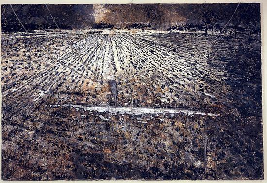 [peinture] Vos oeuvres préférées Kiefer-the-milky-way-1985-87-emulsion-paint-oil-acrylic-shellac-on-canvas-wires-and-lead