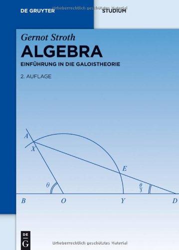 Algebra: Einfuhrung in die Galoistheorie (De Gruyter Studium) (German Edition) 41WrzeKo-sL