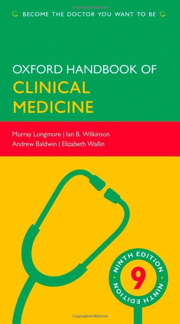 Oxford Handbook of Clinical Medicine (Oxford Handbook Series) 516IaRdjRRL._SL1081_