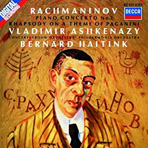 Rachmaninov : Concertos N°1 et 4, Rhapsodie Paganini 611clKxeJDL._SL500_AA300_