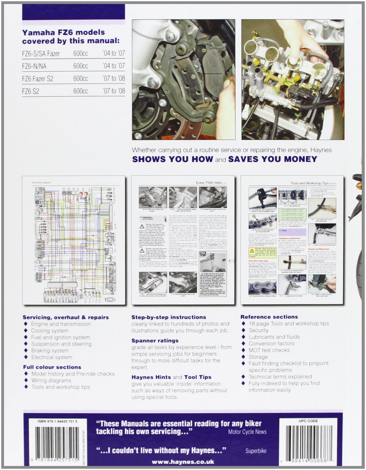 Manuales varios - FZ6 | Fazer 600 81PG7007ekL