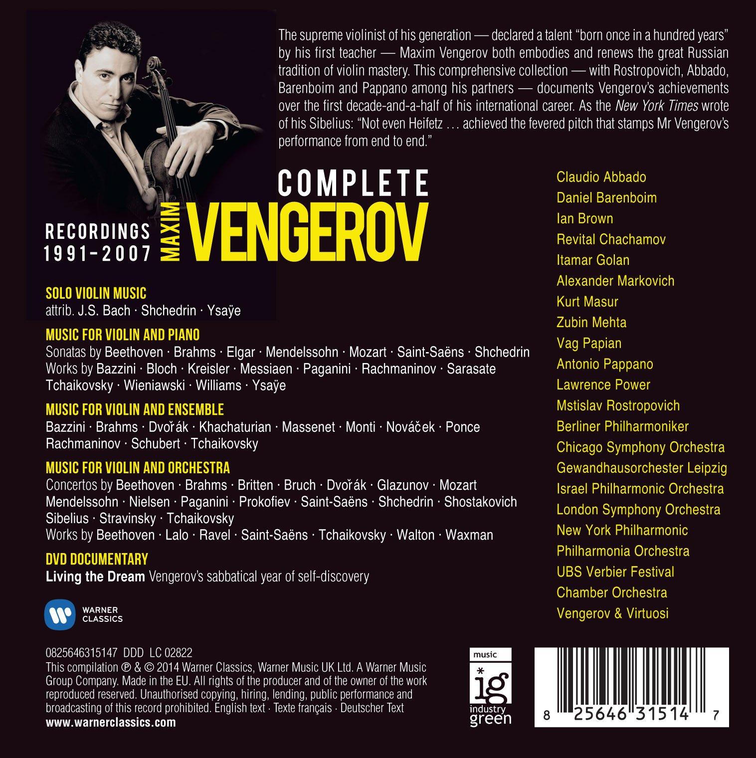Maxim Vengerov    81hckj9tcpL