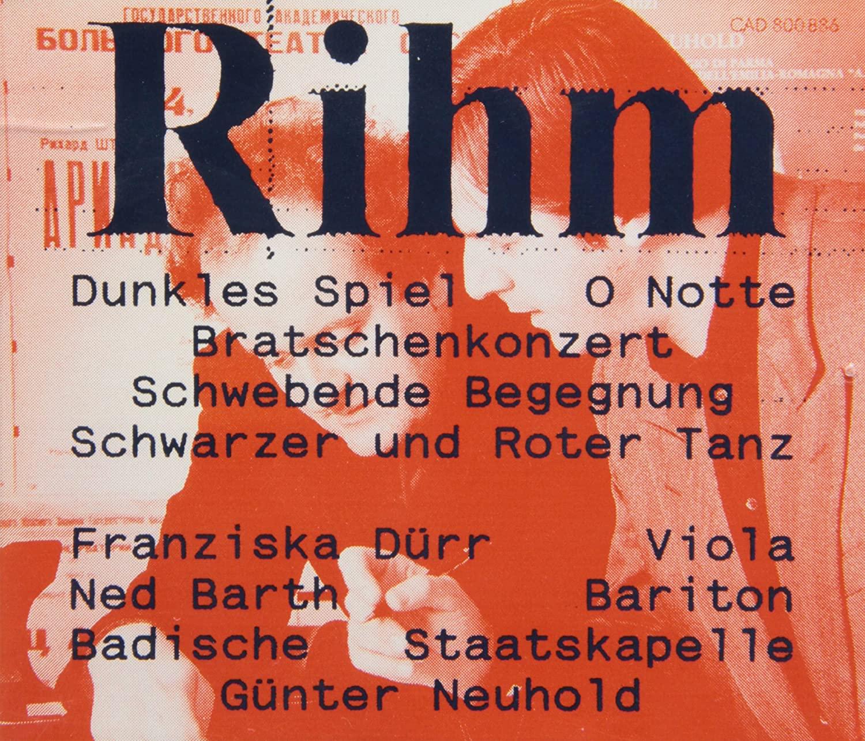 rihm - Wolfgang Rihm (°1952) A1-I5PaAryL._SL1500_