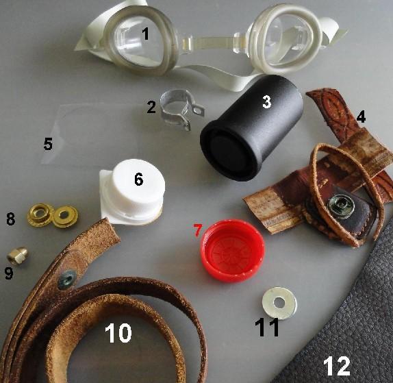 Mis primeras goggles (tutorial) Materiales-con-sus-nc3bameros-pequec3b1os