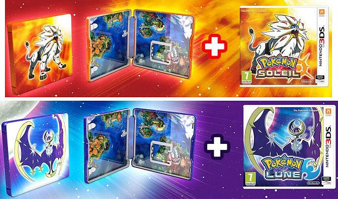 New 3DS XL & Steelbook Pokémon Soleil/Lune Edition-collector-pokemon-lune-Soleil-Steelbook-3DS