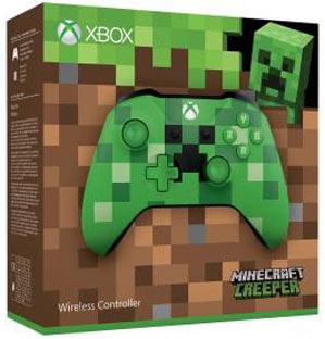 Xbox One S Minecraft Manette-xbox-ediiton-limitee-minecraft-turtle-creeper