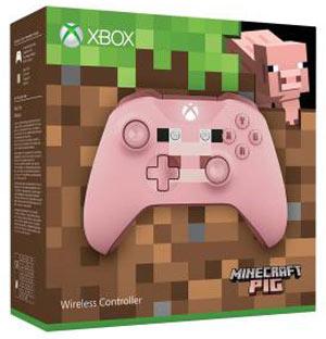 Xbox One S Minecraft Manette-xbox-minecraft-rose-pig