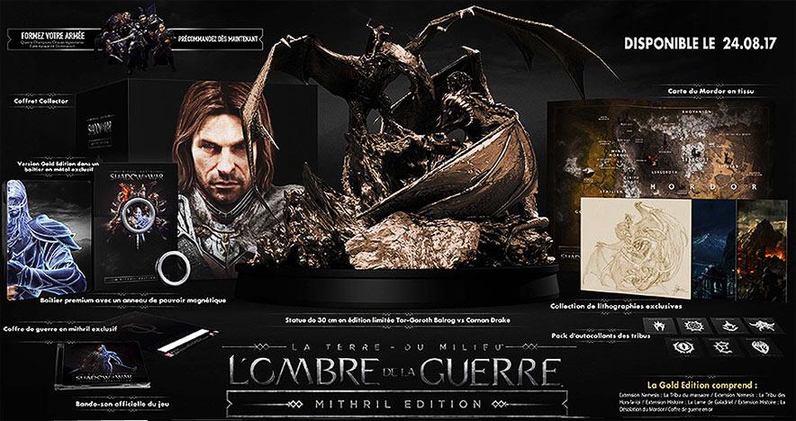 L'Ombre de la Guerre - Mithrill Edition Ombre-de-la-Guerre-mithril-edition-collector-limitee-terre-du-milieu