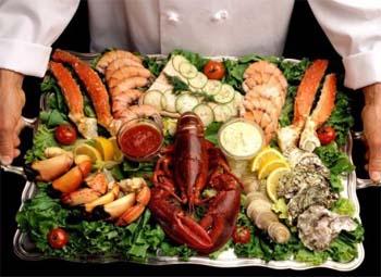 Блюда из морепродуктов и рыбы Moreprodykti
