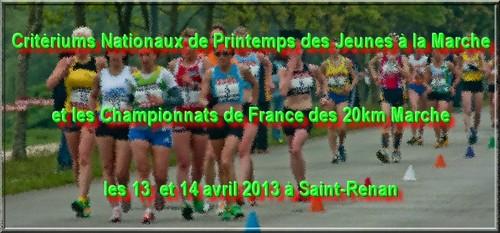 13 14 avril saint renan 20 km et journée des jeunes France_20km-jemarche_com