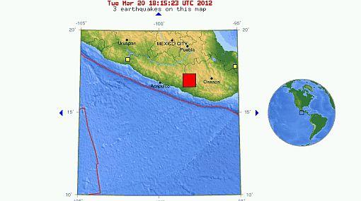 Terremoto en México, USGS, México