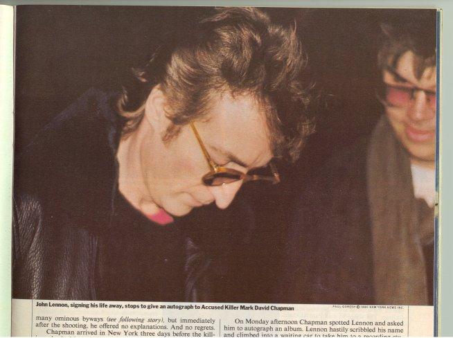 8 décembre 1980 Lennon
