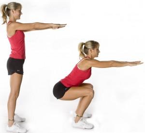 perdre du gras de cuisse et muscler le fessier Body-weight-squats-up-down-girl