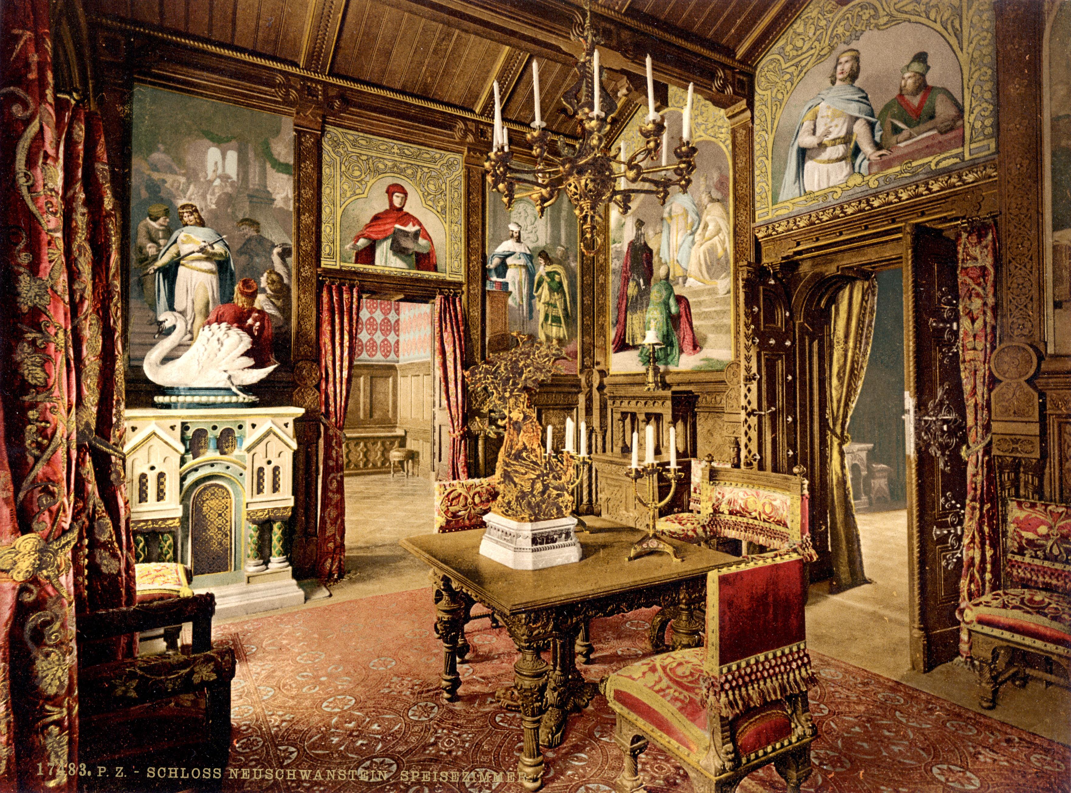 Dvorci koje verovatno nikada nećete posedovati - Page 2 Neuschwanstein_dining_room_00184u