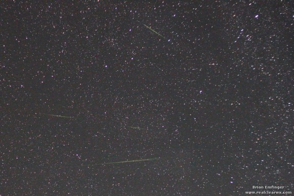 EarthSky's meteor shower guide for 2013 Perseid_meteors_2012_Brian_Emfinger-e1344782253988
