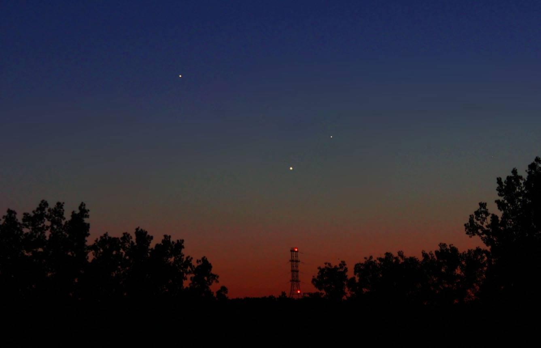 September 2013 guide to the five visible planets Jupiter-venus-mercury-5-24-2013-Duke-Marsh-Clarksville-IN