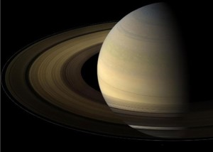 September 2013 guide to the five visible planets Saturn-rings