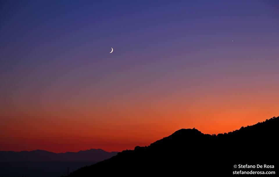 September 2013 guide to the five visible planets Venus-moon-8-10-2013-Stefano-De-Rosa-Isola-dElba-Italy1