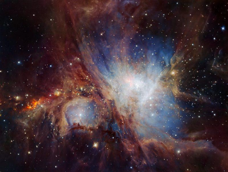 O calatorie 3D in Nebuloasa Orion-Catalog Messier 42 Orion-nebula-HAWK-1-infrared-2016-e1468249157566