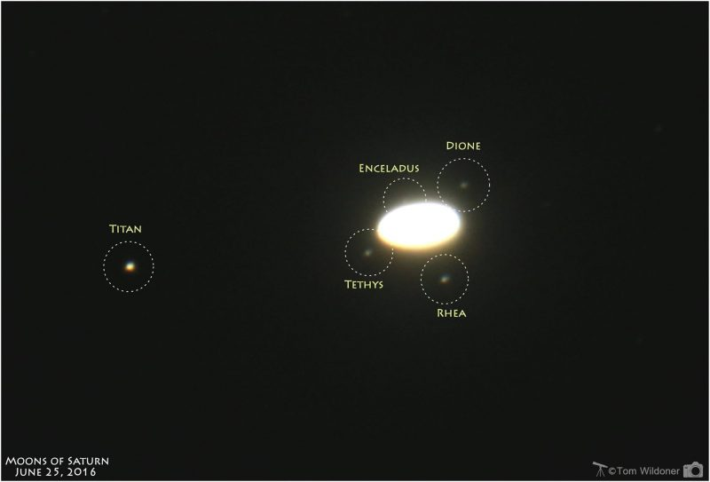 April guide to the bright planets Saturn-moons-Tom-Wildoner-6-25-2016-Weatherly-PA-e1467368763965