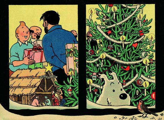 """Le Noël de Tintin, en un temps où la ferveur religieuse était plus importante que la ferveur """"acheteuse"""". JTT%201958%2012%2017_cv"""