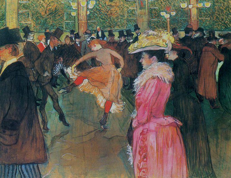Coquettes de París - Página 10 Henri_de_Toulouse-Lautrec_-_Baile_en_el_Moulin_Rouge_%281890%29